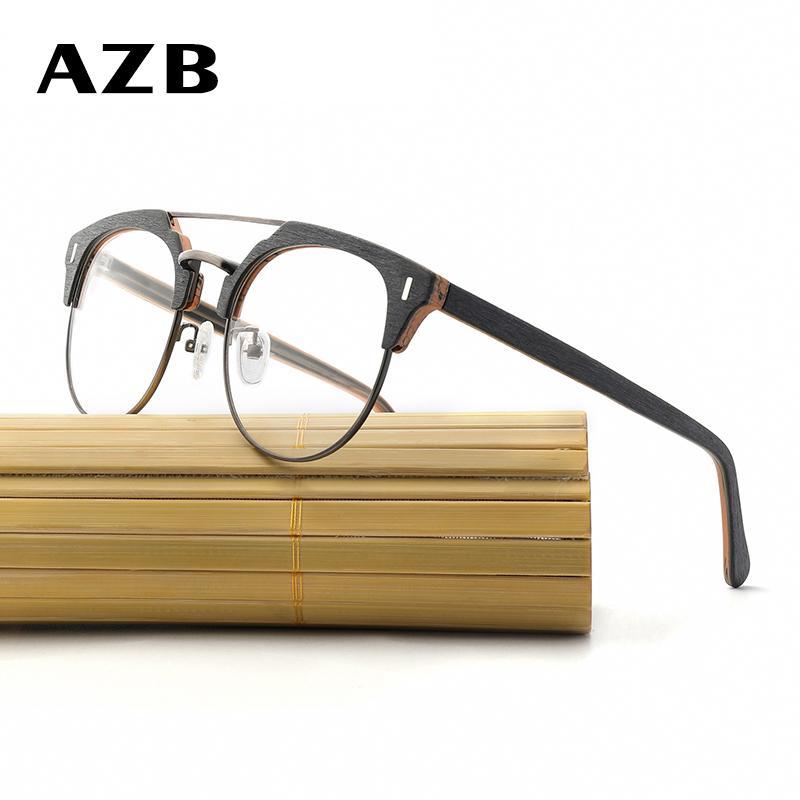 Großhandel Azb Holz Gläser Rahmen Klare Linse Optische Brillen ...