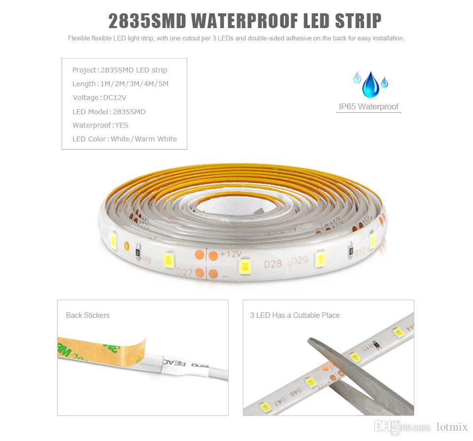Waterproof Stepless Dimmable Led Cabinet Light With Touch Dimmer Duplex Decora Switch Wiring Diagram Strip Wardrobe Closet Lamp 2a Eu Plug Power Supply Rgb Strips Outdoor
