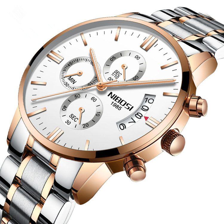 Großhandel 2018 Mode Nibosi Marke Herren Armbanduhr Wasserdicht