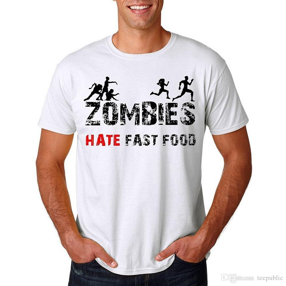 01619262ab41 T Shirt Hot Topic Sleeve Zomer O Neck Short Sleeve Mens Mens Zombie Hate  Fast Food Funny Zombie T Shirt Tee T Shirts Cool T Shirt Buy Shirts Online  From ...