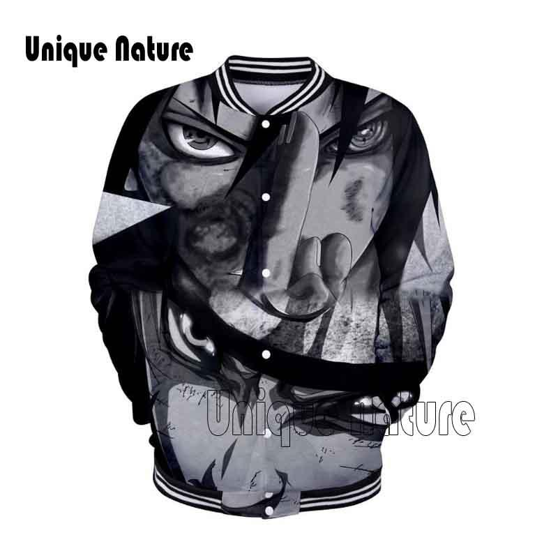 Unique Nature 2018 Cool Jackets NARUTO Hip Hop Fashion Clothing 3D Anime Jacket Casual Sweatshirt Men Popular Print Autumn
