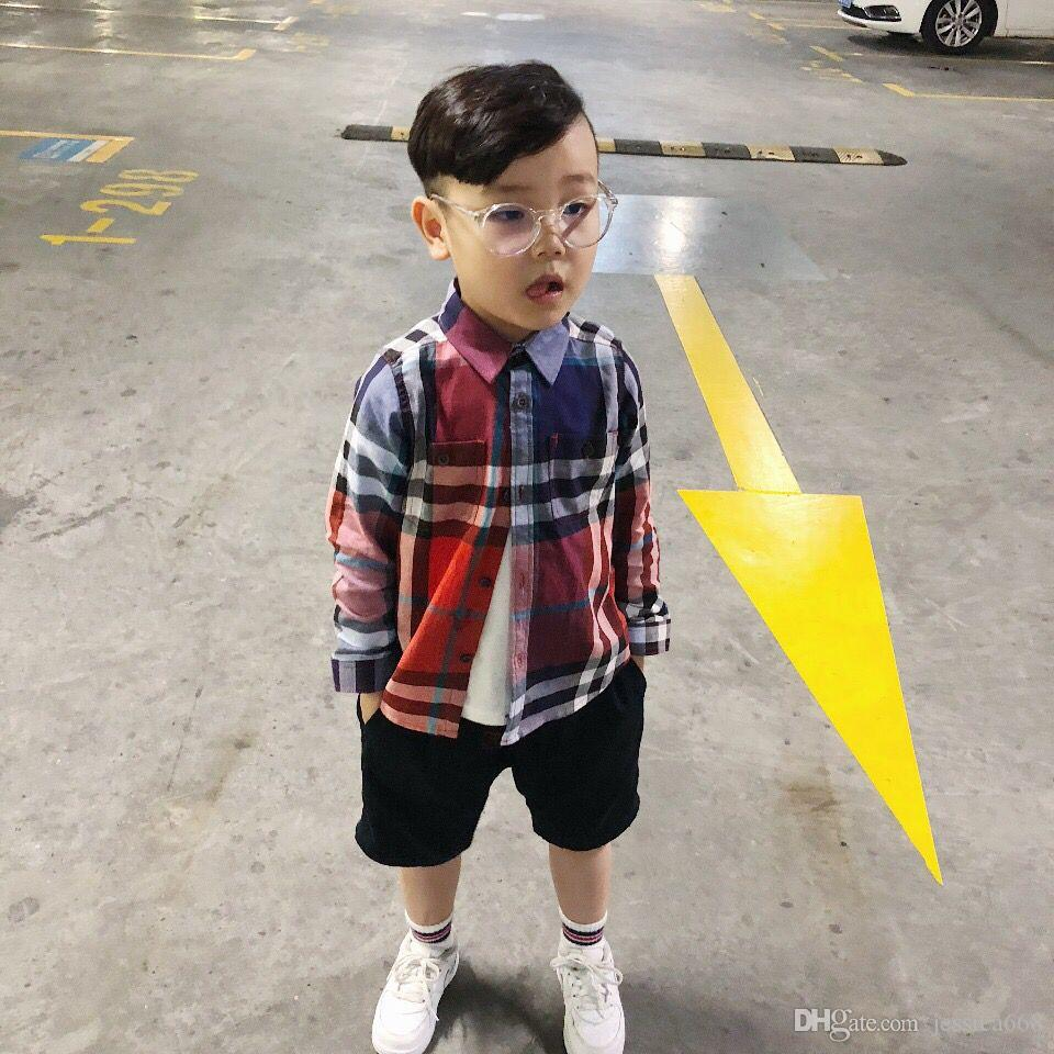 7230aa5cde20 Fashion Brand Casual Boys Shirts 2018 New Autmn Children s Tops with ...