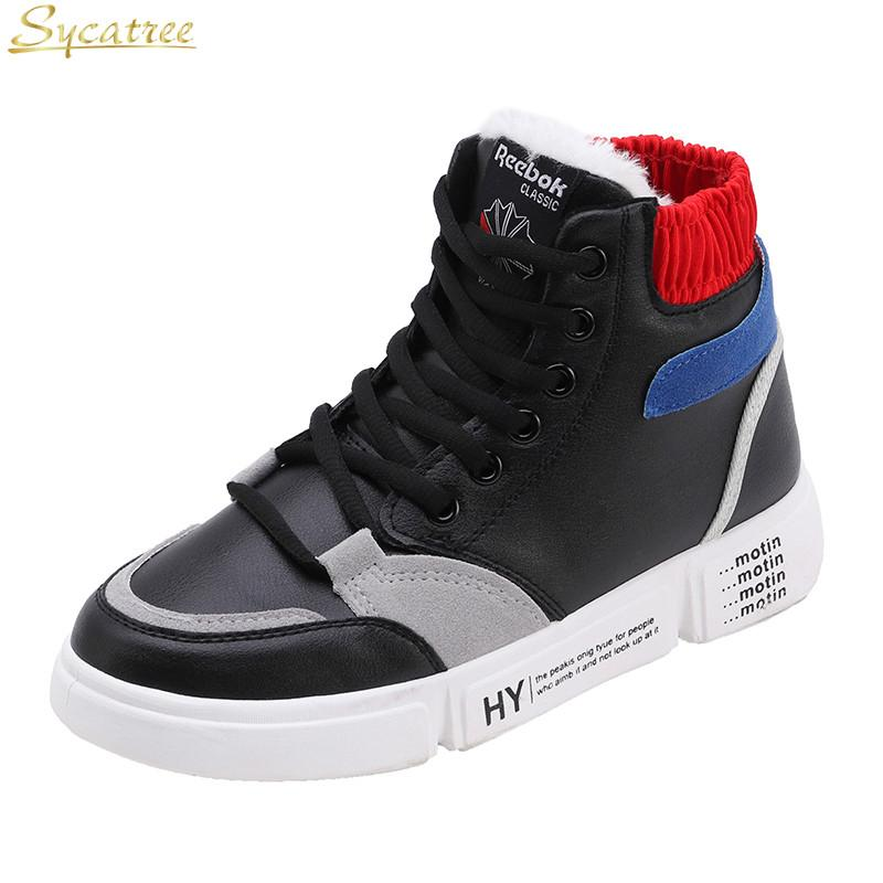 13f95c13710 2019 Sycatree Winter Women Running Shoes Inside Fur High Top Jogging Ladies  Shoes Luxury Brand Female Gym Girls Sneakers From Qingteawater