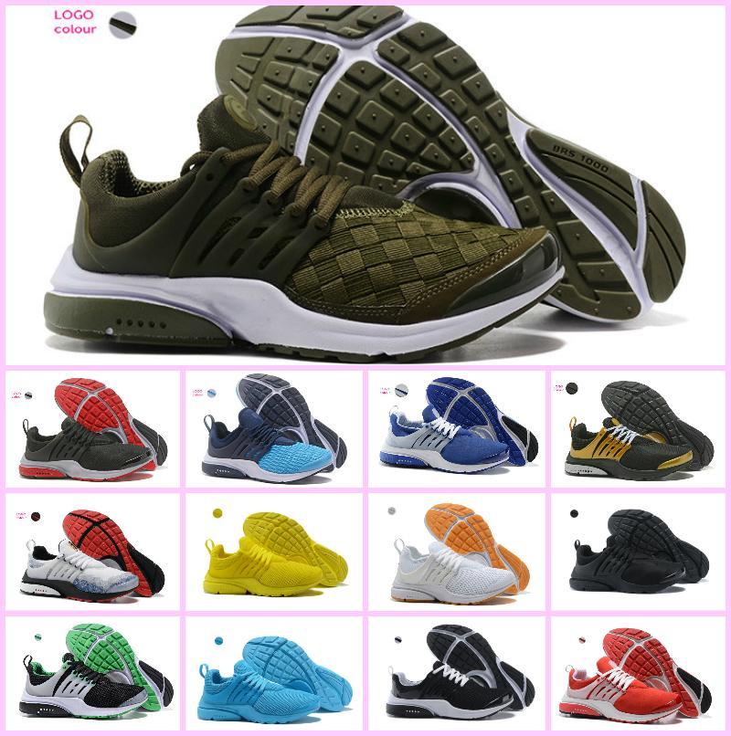 dedd7ca2a540 2018 New PRESTo Br Qs Breathe Yellow Black White Mens PRESTOS Shoes ...