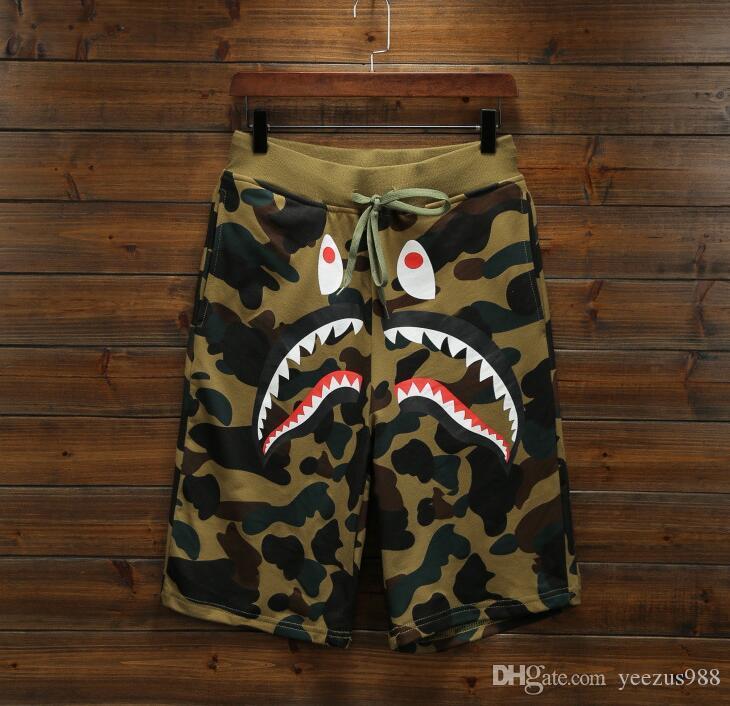 967d0da2 2019 Summer Men Short Pants Brand Clothing Shark Camo Shorts HipHop  Streetwear Men Women Casual Shorts Men Sweatpants From Yeezus988, $24.37 |  DHgate.Com