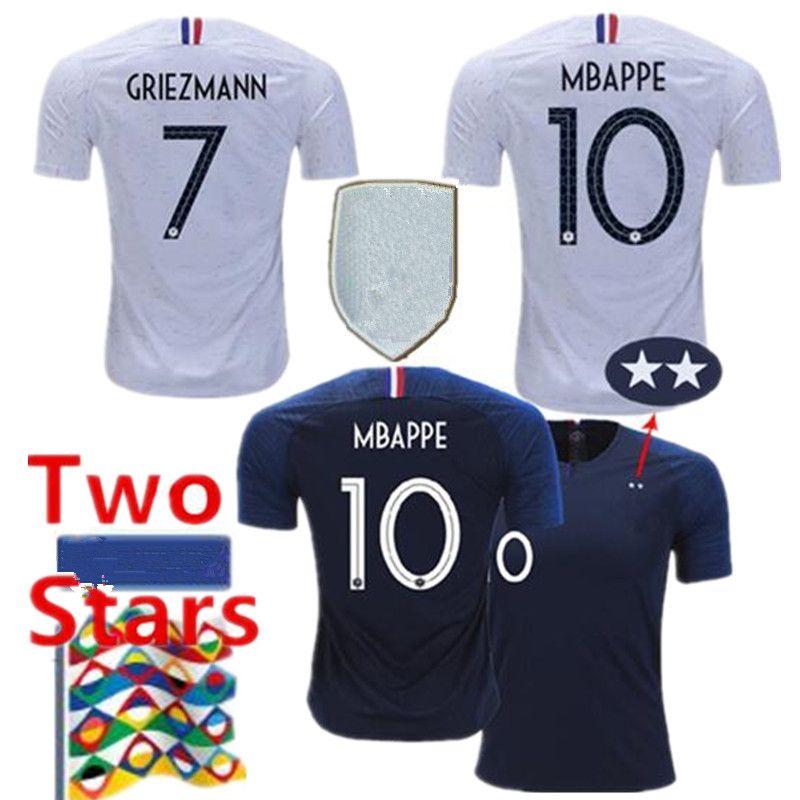 12dcbde78 2 Stars Thailand GRIEZMANN MBAPPE POGBA Soccer Jerseys 2019 UEFA ...