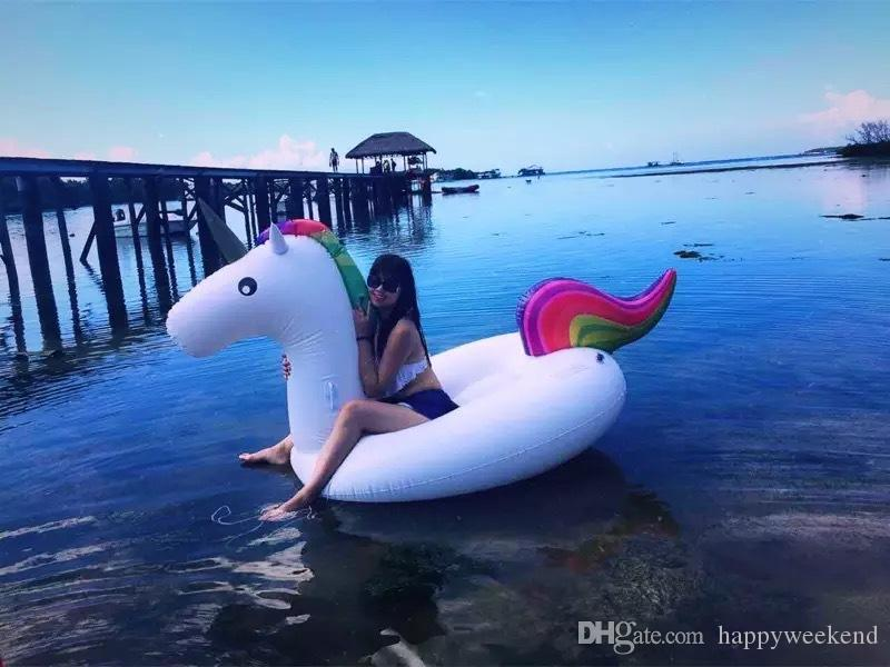 Unicorn Inflatable Floats Inflatable Flamingo Pizza pool toys inflatable Pegasus float Swimming Pool Toys With Big Size HIGH QUALITY