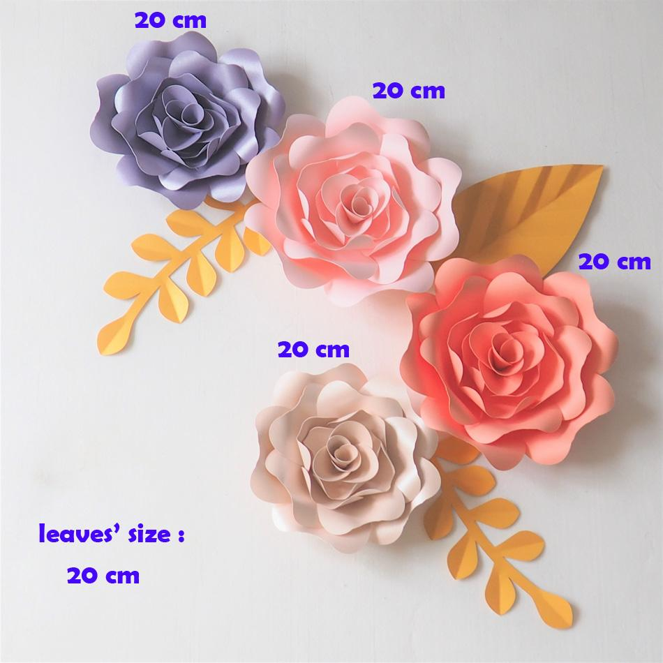 2018 Giant Paper Flowers Backdrop Artificial Handmade Paper Rose