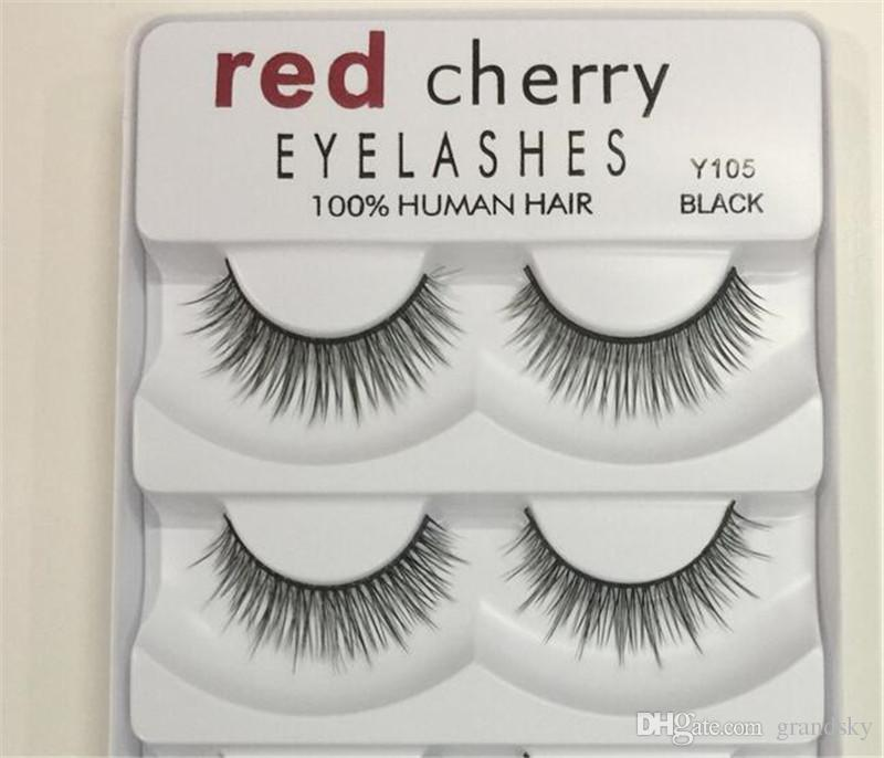 Red Cherry False eyelashes 5 pairs/pack 8 Styles Natural Long Professional makeup Big eyes High Quality