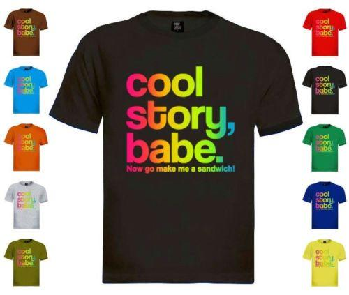78bb76461 Cool Story Babe T Shirt Jersey Shore Bro Sandwich Tell It Again Sarcastic  Colo Long Sleeve T Shirts Vintage T Shirts From Xm30tshirt, $12.05|  DHgate.Com