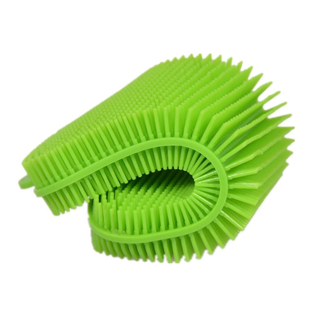 Silicone Dish Washing Sponge Scrubber Kitchen Cleaning Antibacterial Tool Cleaning Cloths