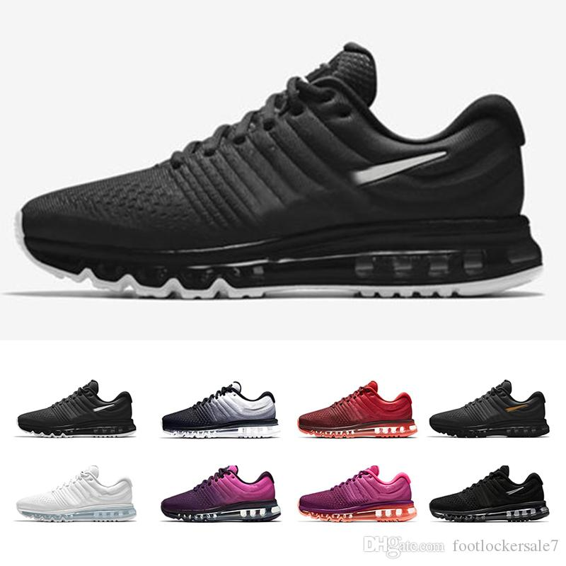 sneakers for cheap 11eb2 442b0 Max 2017 Fashion Mens Running Shoes For Women Air Cushion Top Quality Designer  Black White Red Luxury Brand Sports Sneakers 36 46 Top Running Shoes Running  ...