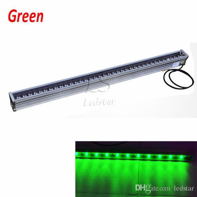 Bañador de pared LED RGB 12W 18W 24W 30W 36W 36W pared de lavado Lámpara LED luces de inundación lámpara de tinción luces de barra Iluminación LED de paisaje