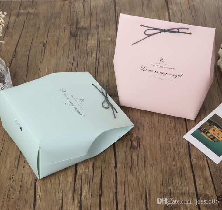 Romatic Kağıt Torba Düğün Doğum Günü Partisi Favor Hediye Tatlılar Kutuları Papercard Deri Halat Favor Çanta Mağaza ürünleri ambalaj ...
