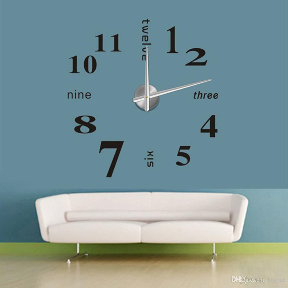large office wall clocks. Wholesale 2016 New Diy Home Decor Large Quartz Wall Clock Stickers Living Room Office Bedroom Decoration Roman Numerals Clocks For F