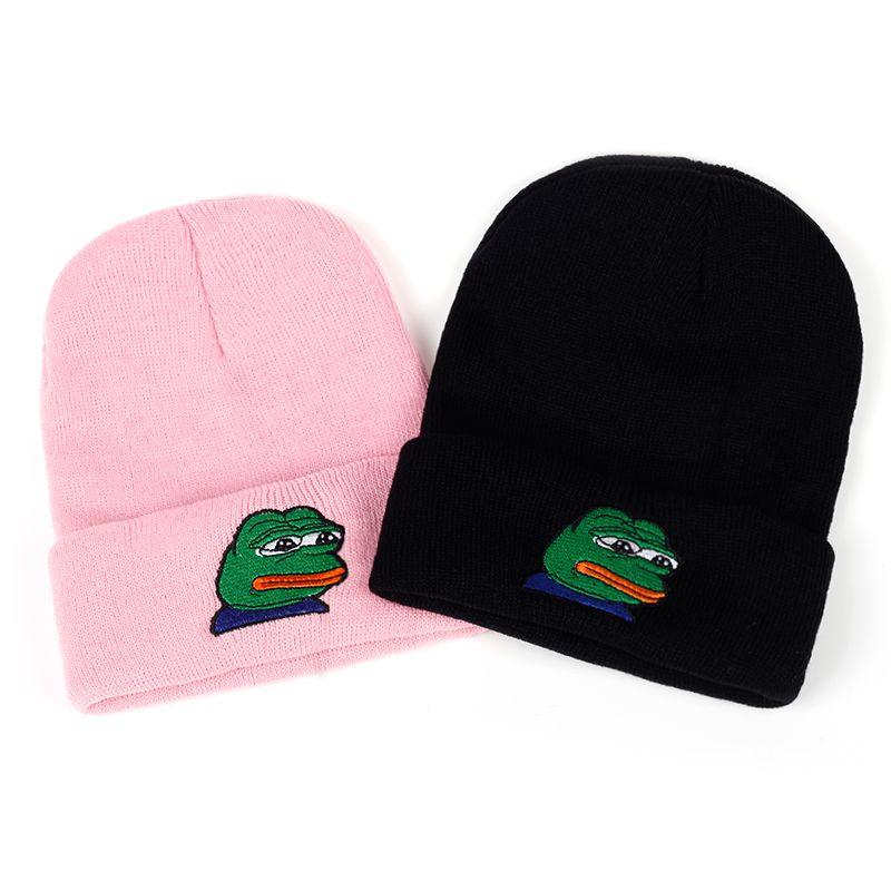 2019 VORON Sad Kermit Cap Frog Pepe Feels Bad Man Embroidery Beanies Hip  Hop Winter Keep Warm Hat The Sad Meme Frog Hat Skullies From Superfeel 0938540a74b