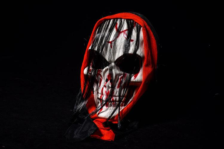 Long hair Ghost Masks bloody Masquerade Full Face Masks Halloween Costumes Party Gift horrifying volto holiday face decoration for men women