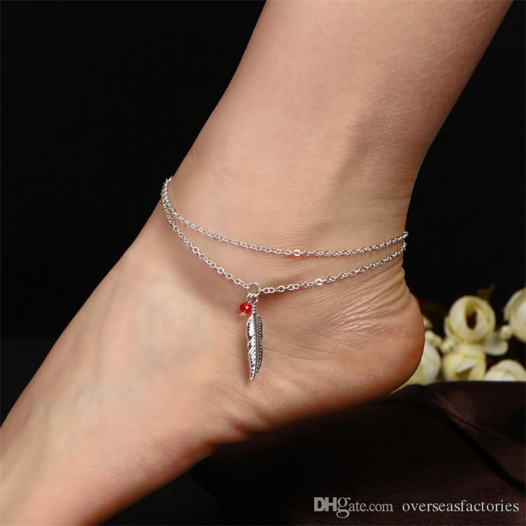 Red Beaded Ankle Chain Fashion Jewelry