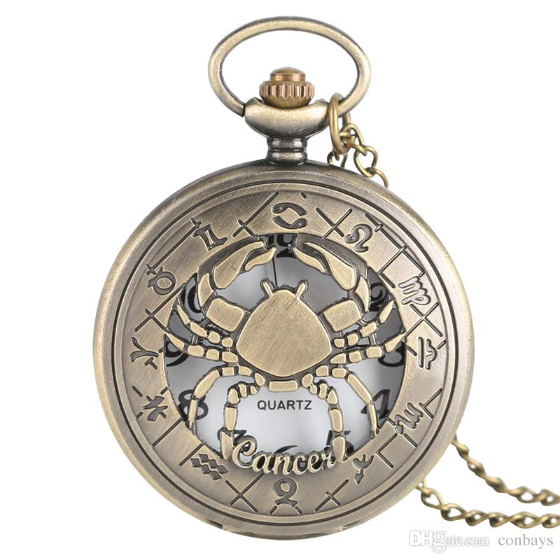 Cool Doctor Who Theme Bronze Constellation Case Quartz Fob Pocket Watch With Necklace Chain For Men Women Watches