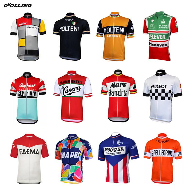Multi Classical New Retro Team Pro Cycling Jersey Customized Road Mountain  Race Top OROLLING Waterproof Cycling Jacket Biking Shorts From Pretty05 ad3232ec3