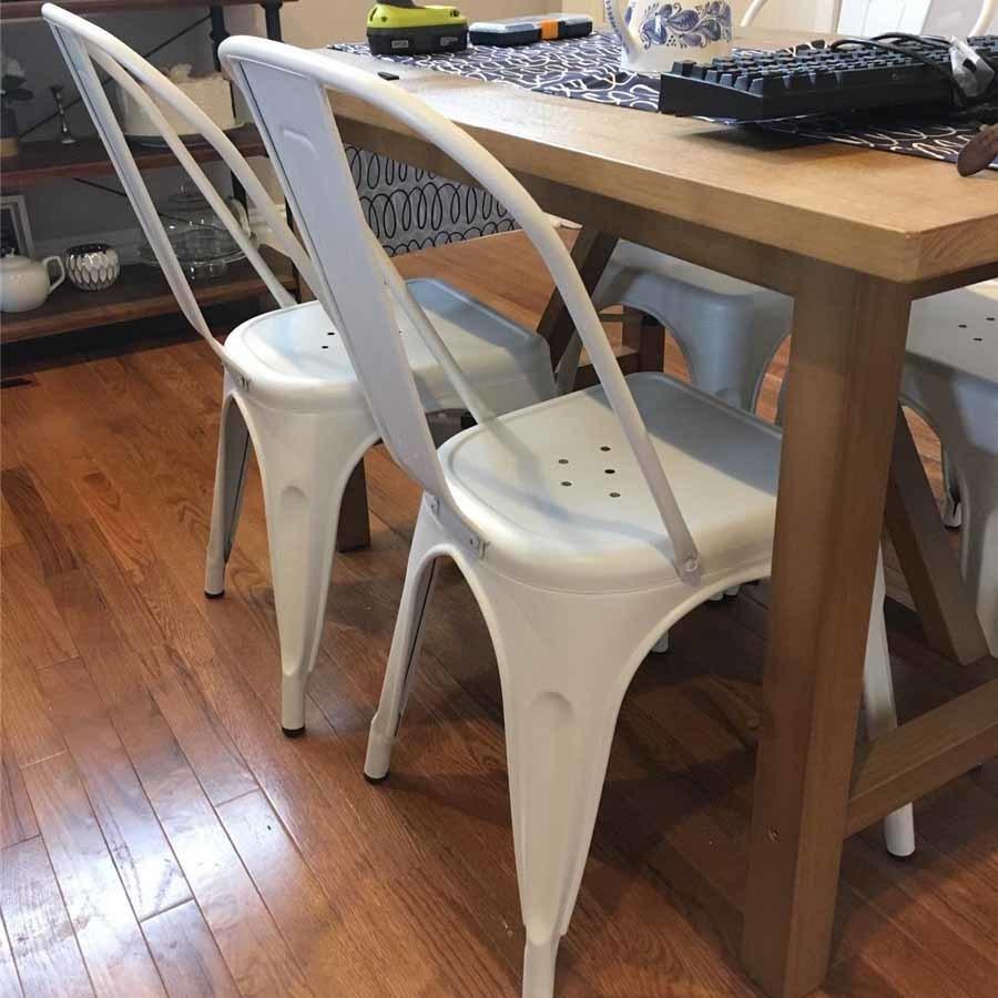 Table et chaises de jardin en fonte Camping Chaise haute en métal vintage  sculpté à la main