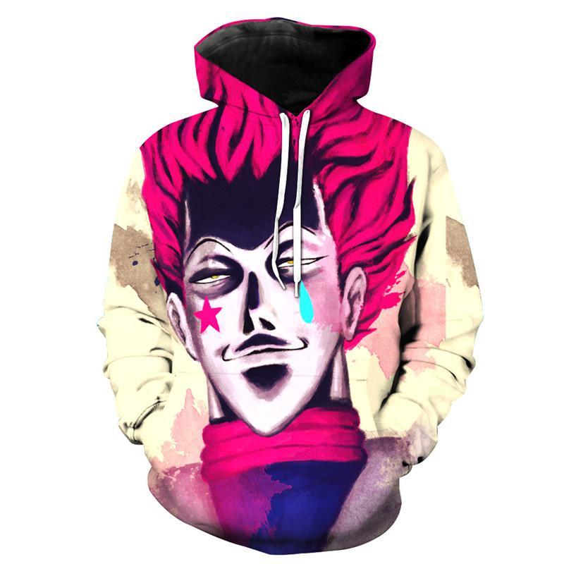 Compre Liumaohua Hunter Más Nuevo X Hunter Hisoka Death Sudadera Con  Capucha Hombre   Mujer Hip Hop Print 3D Sudadera Con Capucha Personaje De  Personalidad ... bb089a2f25b