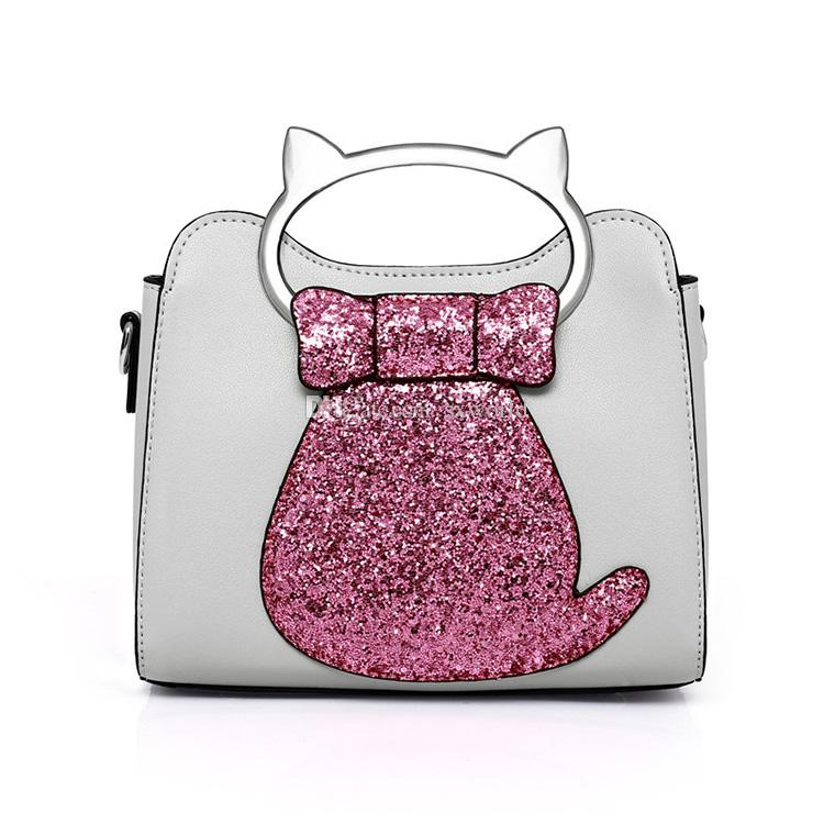ca1f0d546e22 Fashion Casual Sequins Cat Small Square Leather Shoulder Bags for Ladies  Shoulder Bags for Ladies Small Shoulder Bags Ladies Online with   15.82 Piece on ...