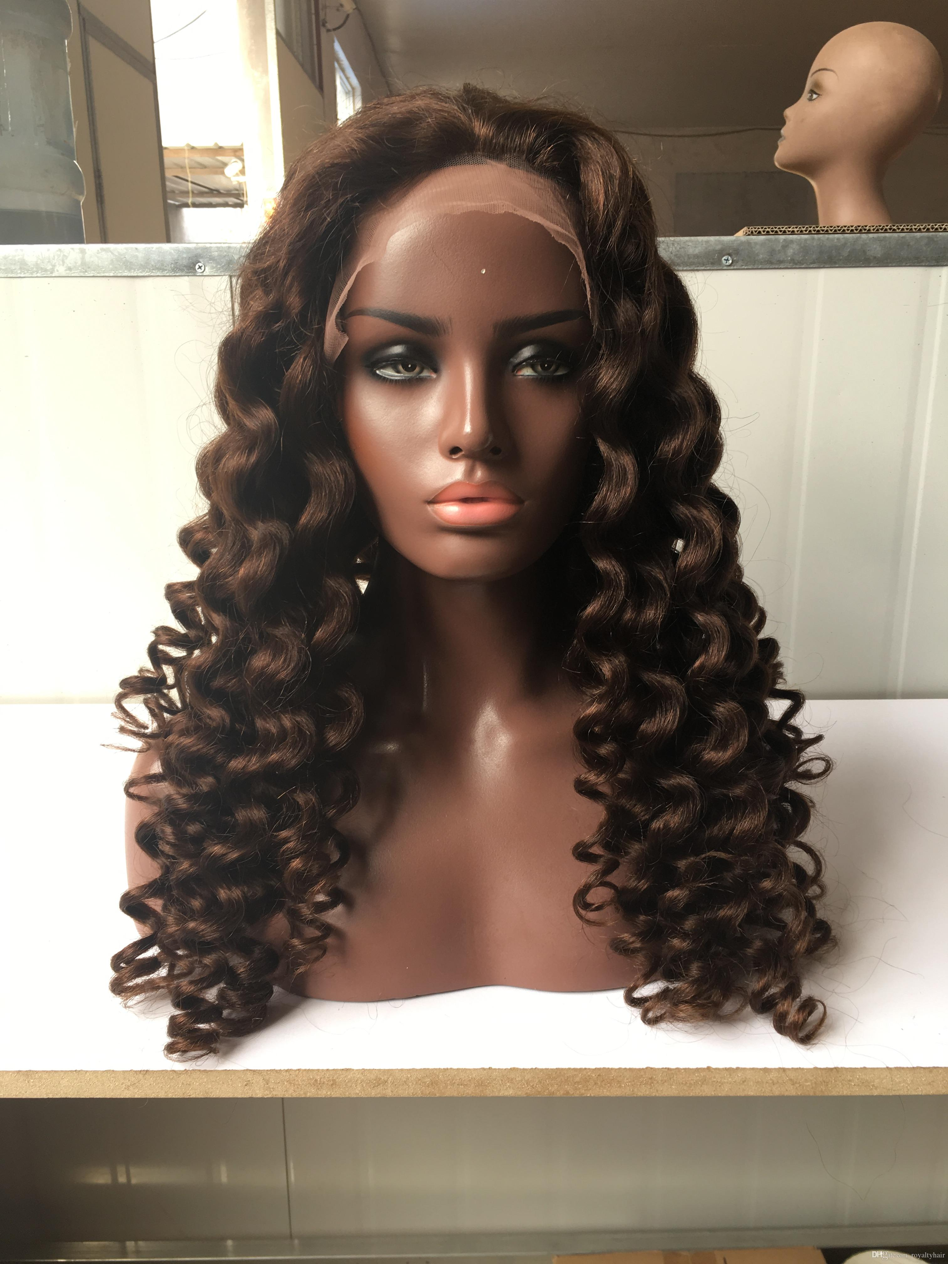 Riya Hair Full Lace Human Hair Wigs Afro Kinky Curly 1b Black Brazilian Remy Hair Pre Plucked Lace Wigs For Women With Baby Hair Human Hair Lace Wigs Hair Extensions & Wigs