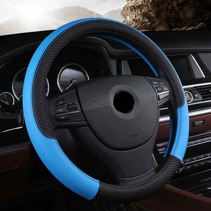 Acheter Couvre Volant De Voiture Universel En Cuir PU 38CM Car Styling Sport  Couvre Volant Auto Anti Dérapant Accessoires Automobiles De  10.66 Du  Egomall ... fabf6e94b218