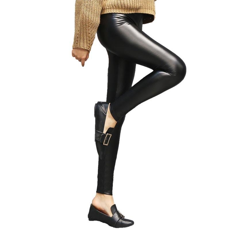 5c85ff768cb81e 2019 Autumn And Winter New PU Plus Velvet Leggings Slim Matte High  Elasticity AF571704 From Dalivid, $41.82 | DHgate.Com