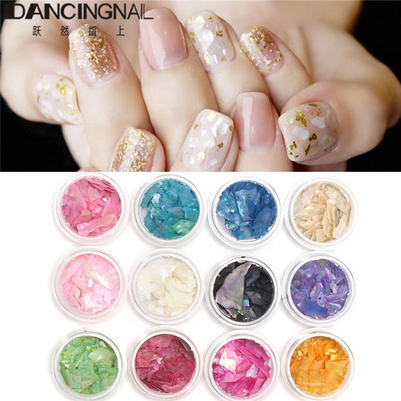 3d Nail Art Glitter Decoration Tools Mix Color Nail Sea Shell Slices