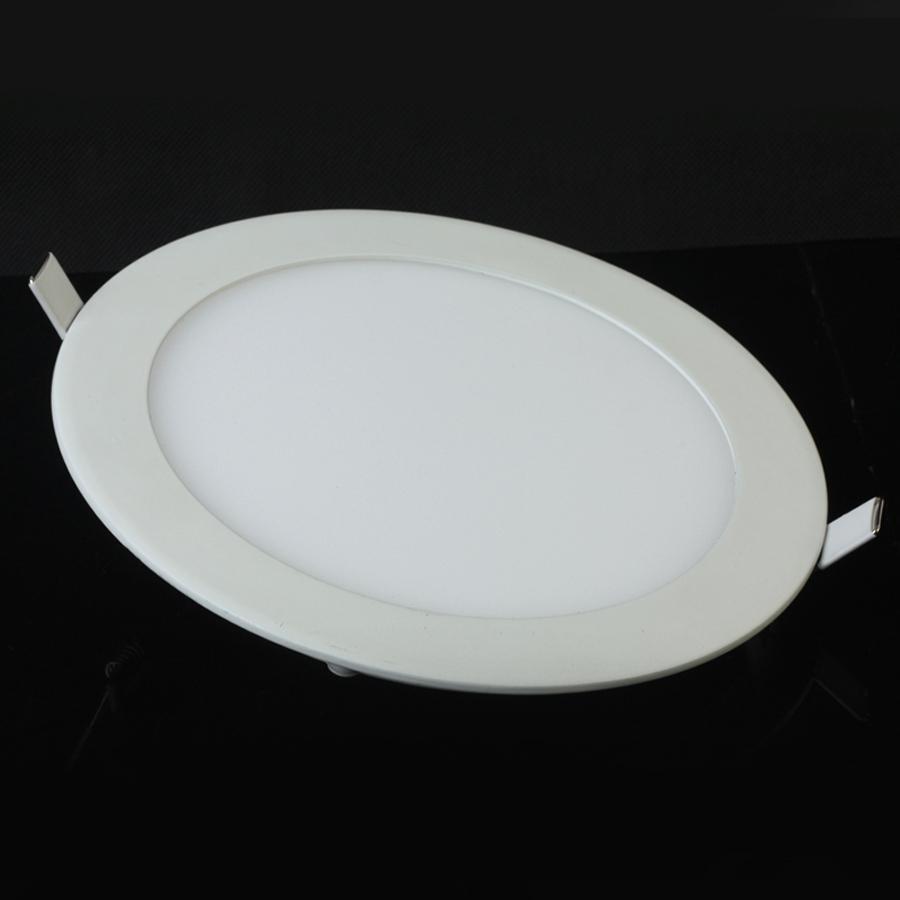 Downlight LED 4W 6W 9W 12W 15W 25W Cuadrado / Redondo Ultrafino SMD 2835 Luces de panel de techo de controlador de potencia Frío / Natural / Blanco cálido