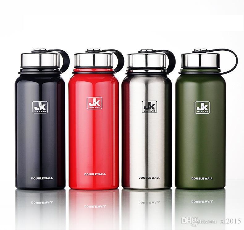 610 МЛ 20 унций нержавеющей стали вакуумные чашки на открытом воздухе пешие прогулки восхождение большой емкости спортивный чайник двойной стены бутылки с водой