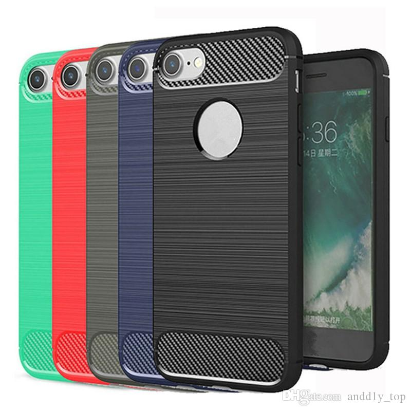 Прочная броня с анти-амортизация углеродного волокна дизайн чехол для iphone X 8G 7 PLUS 6S PLUS