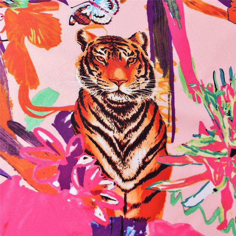 10189cb051f Acheter Carré Soie Femmes Floral Imprimé Écharpe Marque De Luxe Foulard Femme  Echarpe Twill Tigre Léopard Imprimé Animal Écharpe Châles De  22.92 Du  Ztl400 ...