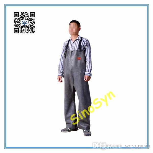 FQ1732 Rubber Safty Chest/ Waist Protective Working Fishery Men Pants --Black