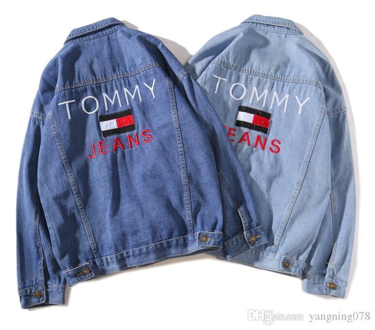 best service 238e0 5c320 2218 love Giacca jeans uomo moda Giacche jeans Slim fit cappotto ricamato  casual Chaqueta Hombre Outwear Coat felpa