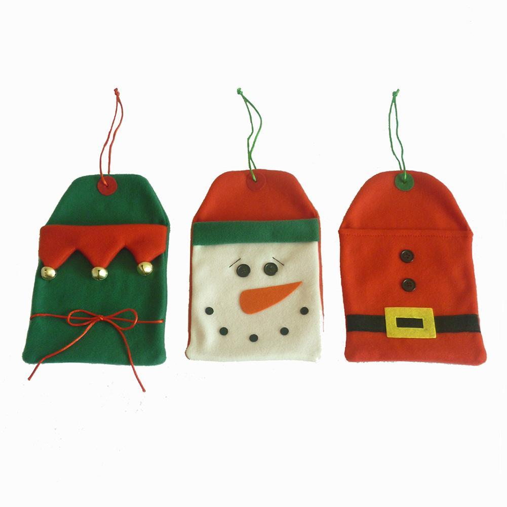 Christmas snowman elf greeting card bag christmas tree hanging gift christmas snowman elf greeting card bag christmas tree hanging gift bag xmas card bags festival home decoration size 2516cm holiday gift wrapping paper m4hsunfo