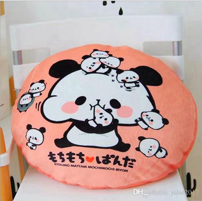 Vendita calda Cute cartoon panda animale stampato cotone biancheria casa cuscino decorativo auto-styling schienale cuscini cuscini giocattolo animale farcito