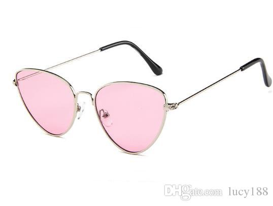 O novo 2018 olho de gato de metal óculos de sol europa e nos estados unidos personalidade marinha óculos de sol tendência de guarda-sóis estilo quente tendência quente