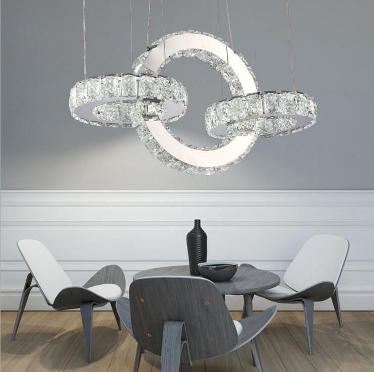 Ring Kronleuchter Moderne Minimalistische Led Esszimmer Kronleuchter Crystal Creative Esszimmer Schlafzimmer Beleuchtung Led Leuchte