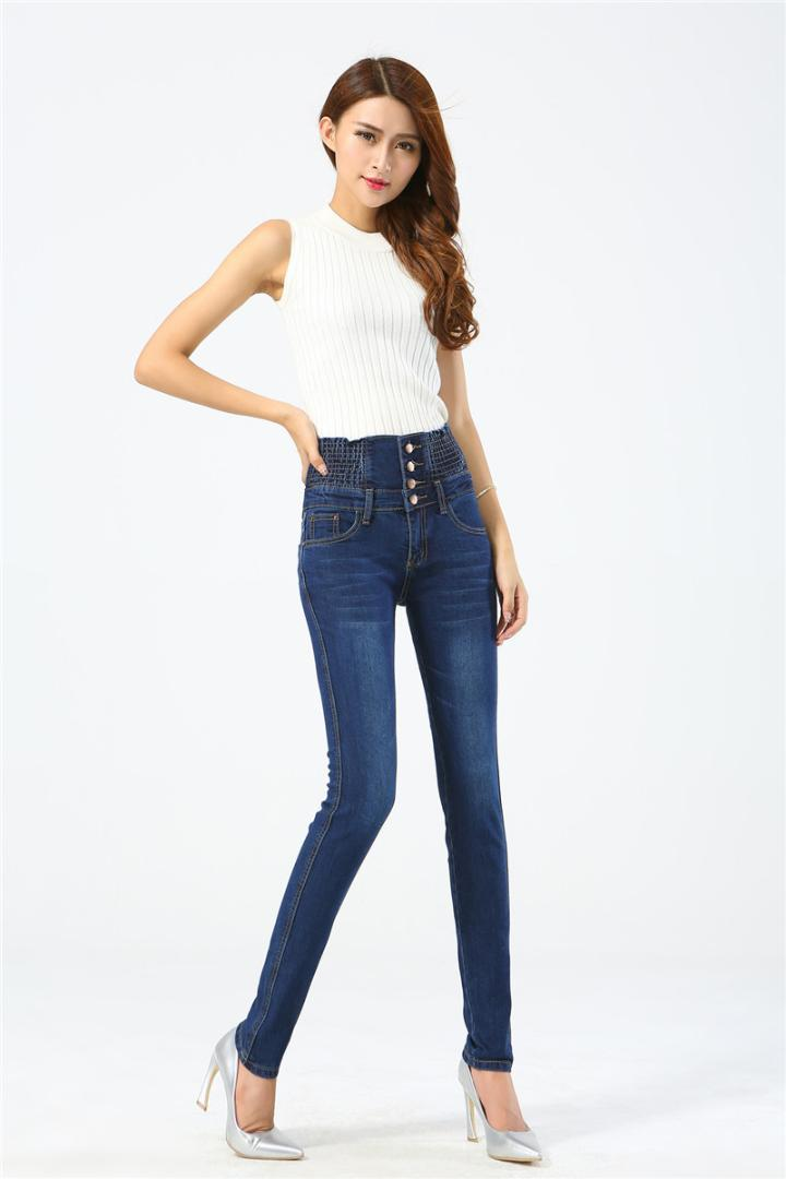 176783c94041c 2019 Plus Size 5XL 100kg Woman Jeans 2018 Elastic High Waist Woman Skinny Jeans  Denim Pants Casual Long Mujer Femme From Piaocloth