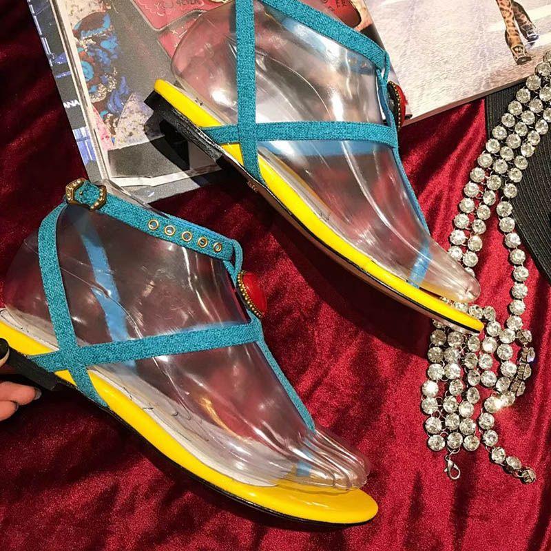 Nuevo 2018 zapatos del estilo del verano de las mujeres sandalias de marca de moda zapatillas pisos buena calidad Flip Flop Sexy sandalia plana