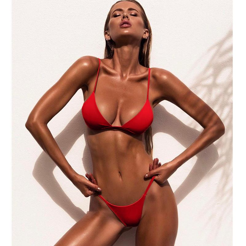 8a15f18cb3 2019 Brand New Women Bikini Set Triangle Top Cheeky Bottom Swimsuit 9  Colours Low Waist Swimwear Sexy Bathing Suit For Summer From  Bikinicollection
