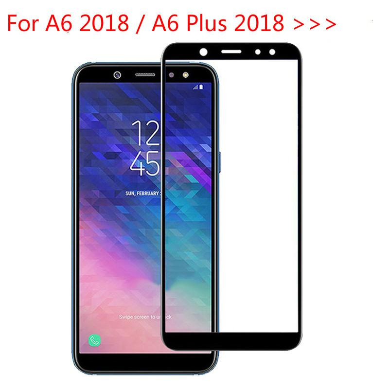9h Full Cover Tempered Glass For A6 2018 A600 Fn Screen Protector Galaxy Plus A605f A6plus A 6 Best Cell Phone