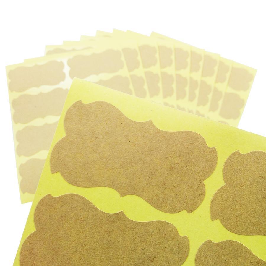 El yapımı Sticker Vintage Boş Kraft Etiket Etiket DIY El Yapımı Hediye Kek Pişirme Sızdırmazlık Sticker 80 Adet / torba
