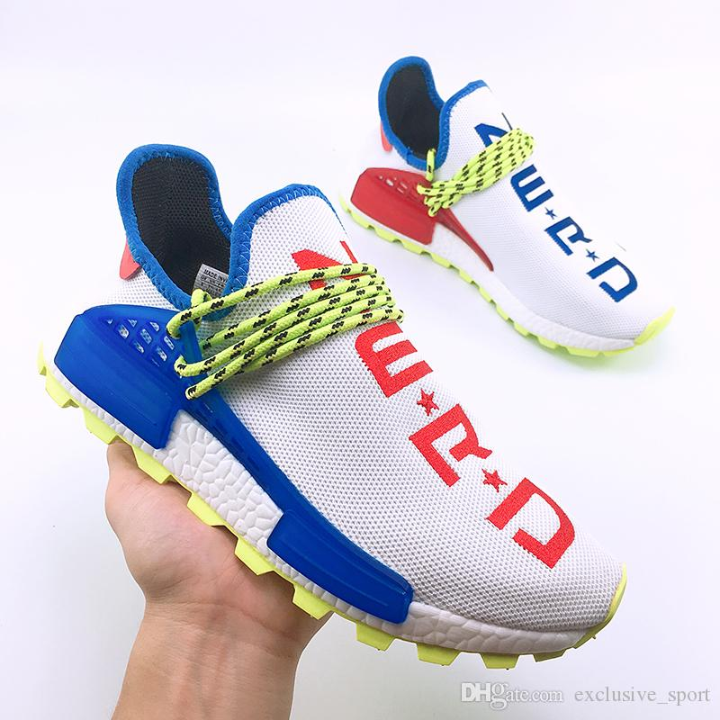 d11a2aaa04c Human Race Nerd Running Shoes Pharrell Williams Hu Trail Afro Solar Pack  Homecoming Designer Trainer For Men Women Sports Sneaker Size 36 47 East  Bay Shoes ...
