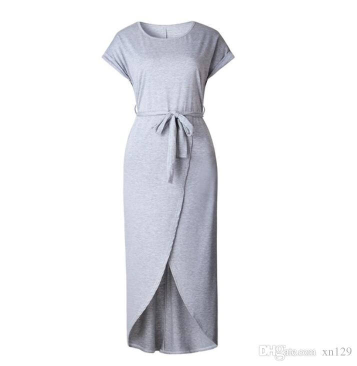 d497170784f7 2018 Summer Short Sleeve Bodycon Party Dress Plus Size Sexy Women Long Maxi Boho  Dress Elegant Female Korean Style Midi Dress Silly T Shirt Make Your Own ...