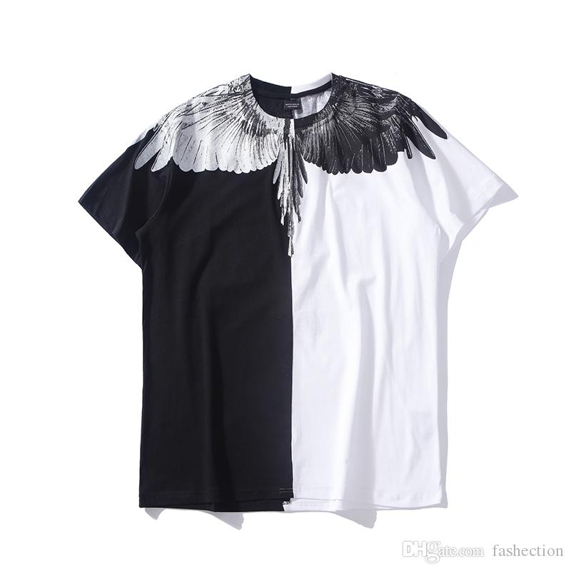 6b0c94a95aa Falection 18ss Marcelo Burlon Half Black White Wings Cotton Tshirt County  Of Milan Online T Shirts Buy In T Shirts From Fashection