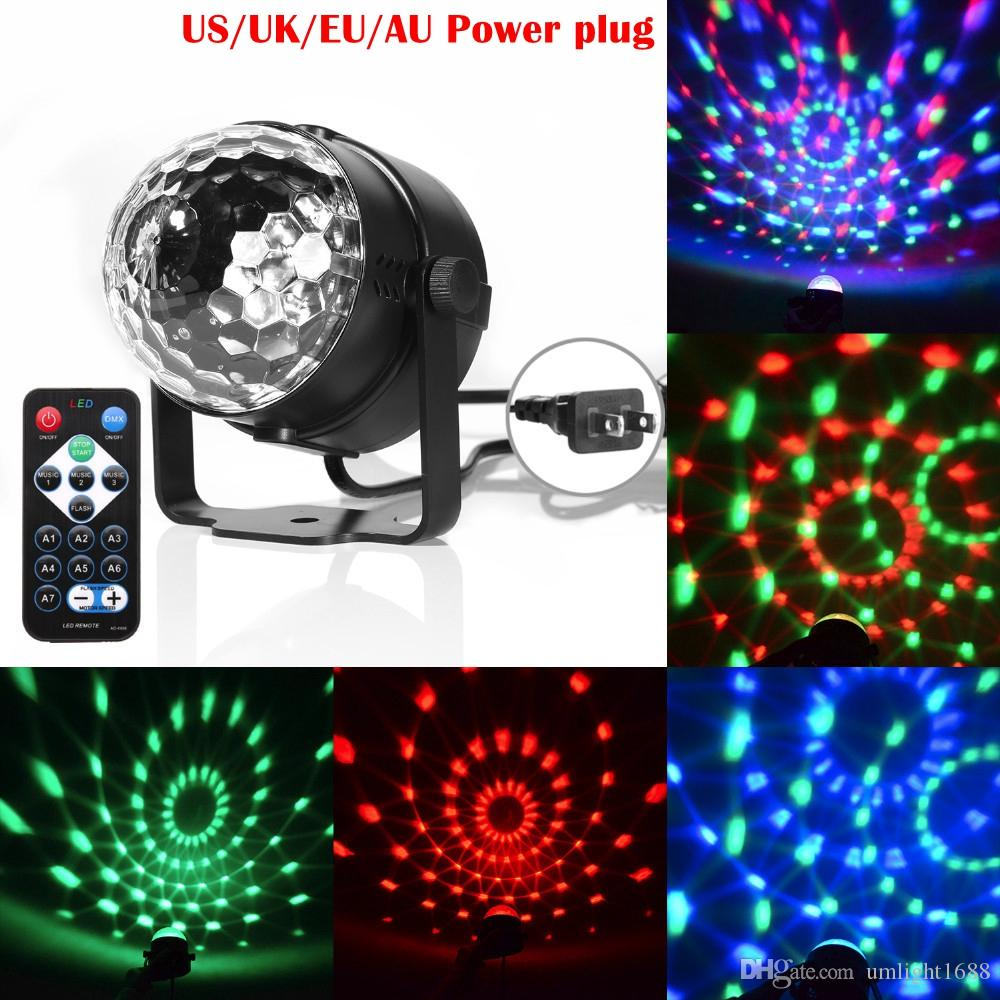 Lights & Lighting Dj Disco Ball Projector Christmas Light Effect Party Music Lamp Led Stage Light Disco Lights Lumiere Sound Activated Laser